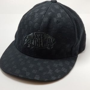 Vans Off the Wall Checkered Flat Brim Hat Cap S-M
